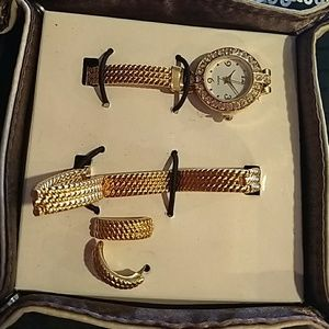 Sparkling Watch Giftset in catch all tray